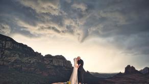Stormy Elopement on Merry Go Round Rock in Sedona