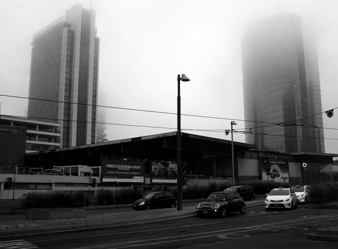 Perception 89: Buildings beyond the mist, Milan