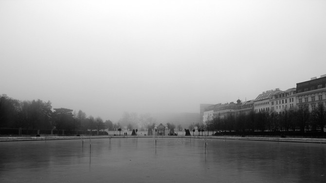 Perception 137: Misty Sight, Belvedere Castle, Vienna