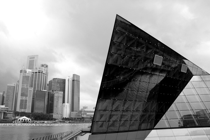 Perception 53: Modern Architecture With The Cityscape In The Background, Singapore