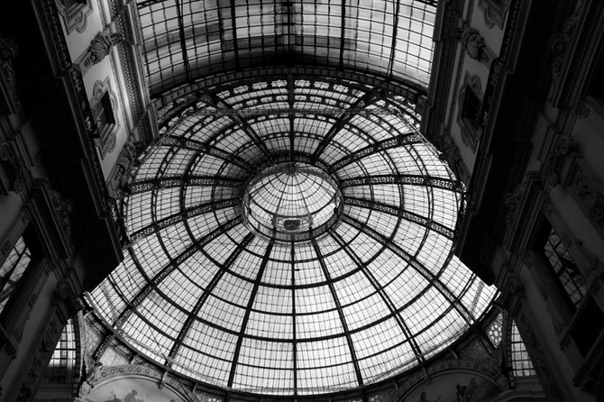 Perception 91: Dome at the top of Galleria, Milan