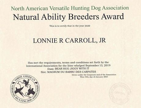 Sophie NA Breeders Award 2020.jpg