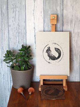 gravure renard noir papier gris.jpg