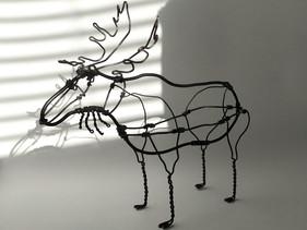 sculpture animal en fil - elan M 01.jpg