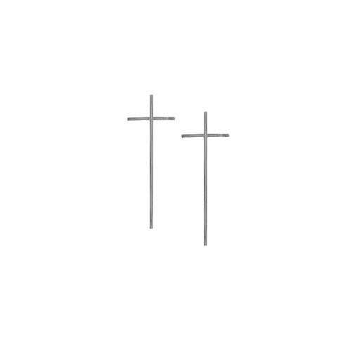 Silver Cross Earrings (medium)