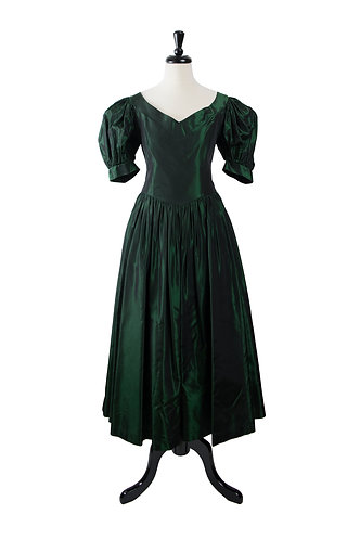 Vintage Emerald Taffetta Gown