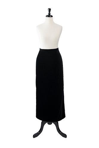 Vintage Velvet Wiggle Skirt