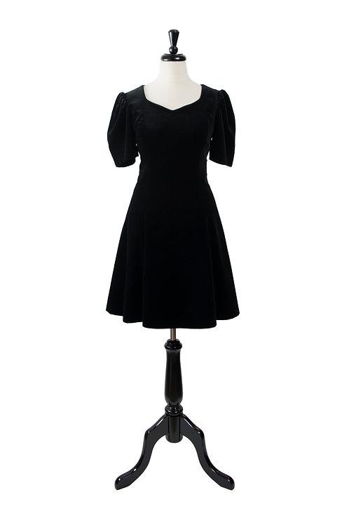 Vintage Velvet Babydoll Dress