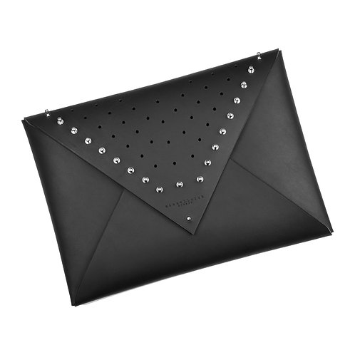 ARCHIVED Leather Envelope Clutch - studded (large)