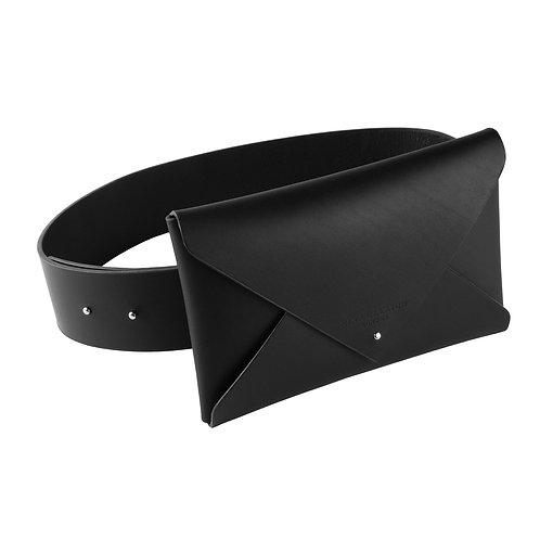 Leather Envelope Belt Clutch (medium)