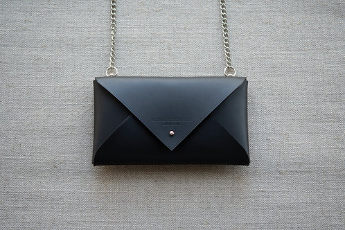 Sample Leather Envelope Clutch with Chain