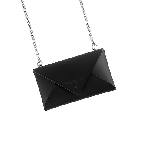 Leather Envelope Clutch with Chain (small)