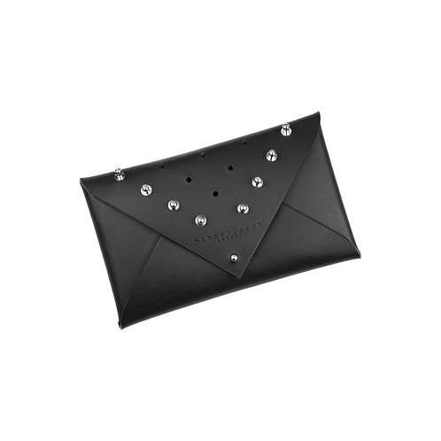 ARCHIVED Leather Envelope Clutch - studded (small)