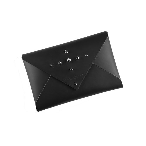 Leather Envelope Clutch (medium) - studded