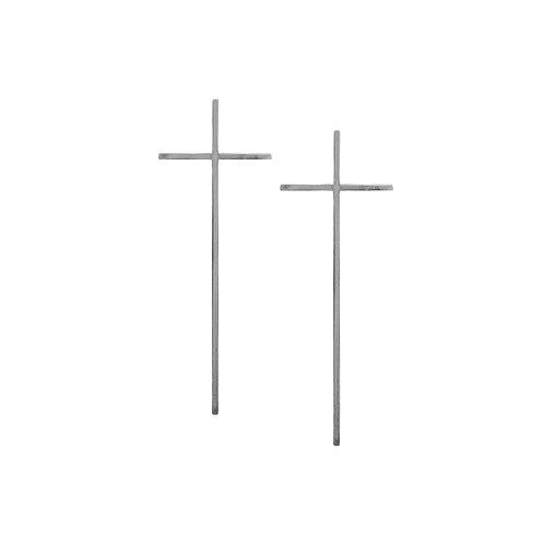 Silver Cross Earrings (large)