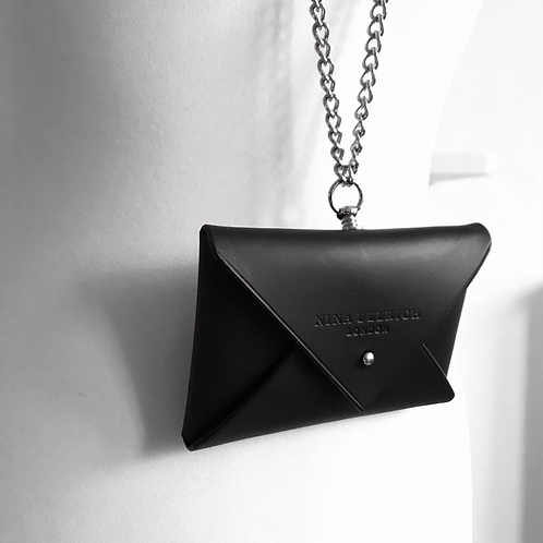 Leather Envelope Purse with Chain