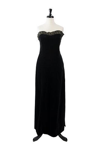 Vintage Velvet Evening Gown