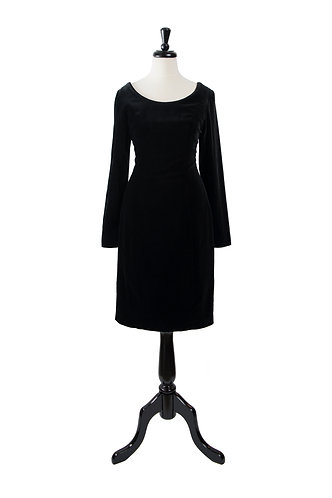 Vintage Velvet Little Black Dress