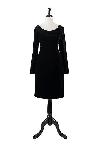 Vintage Velvet Little Black Dress