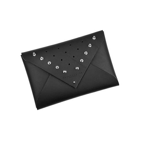 ARCHIVED Leather Envelope Clutch - studded (medium)
