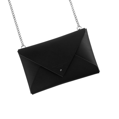 Leather Envelope Clutch with Chain (medium)