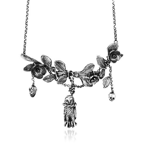 Hanging Owl with Twig Necklace