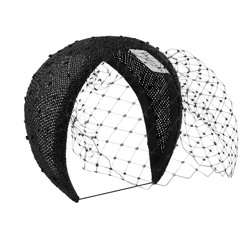 Knotted Ramie Bandeau with Veil