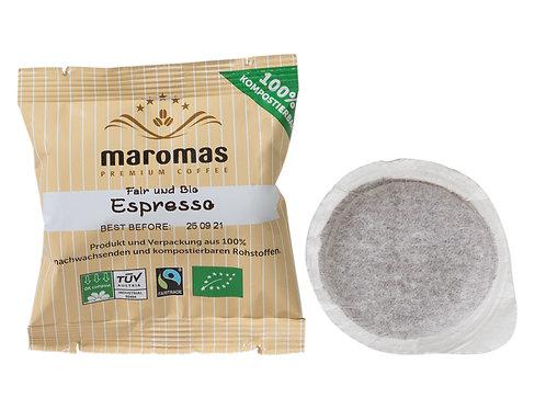 Maromas Bio & Fair  | Espresso | Kaffeepads E.S.E | 50er