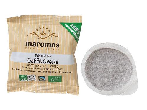 Maromas Bio & Fair  | Crema | Kaffeepads E.S.E | 50e