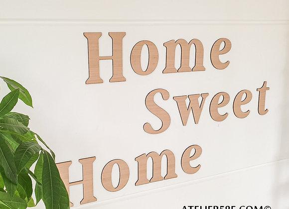 décoration murale originale home sweet home