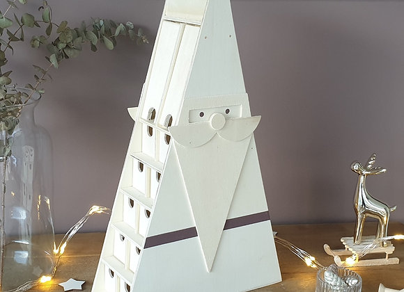 Calendrier de l'avent Père Noël décoration Noel 2019