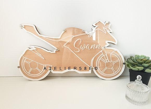 Livre d'or moto baptême motard personnalisé avec gravure