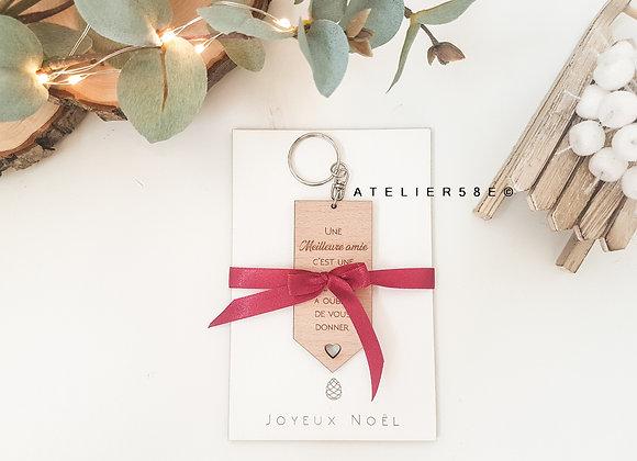 Porte clé personnalisé gravé avec un message à offrir