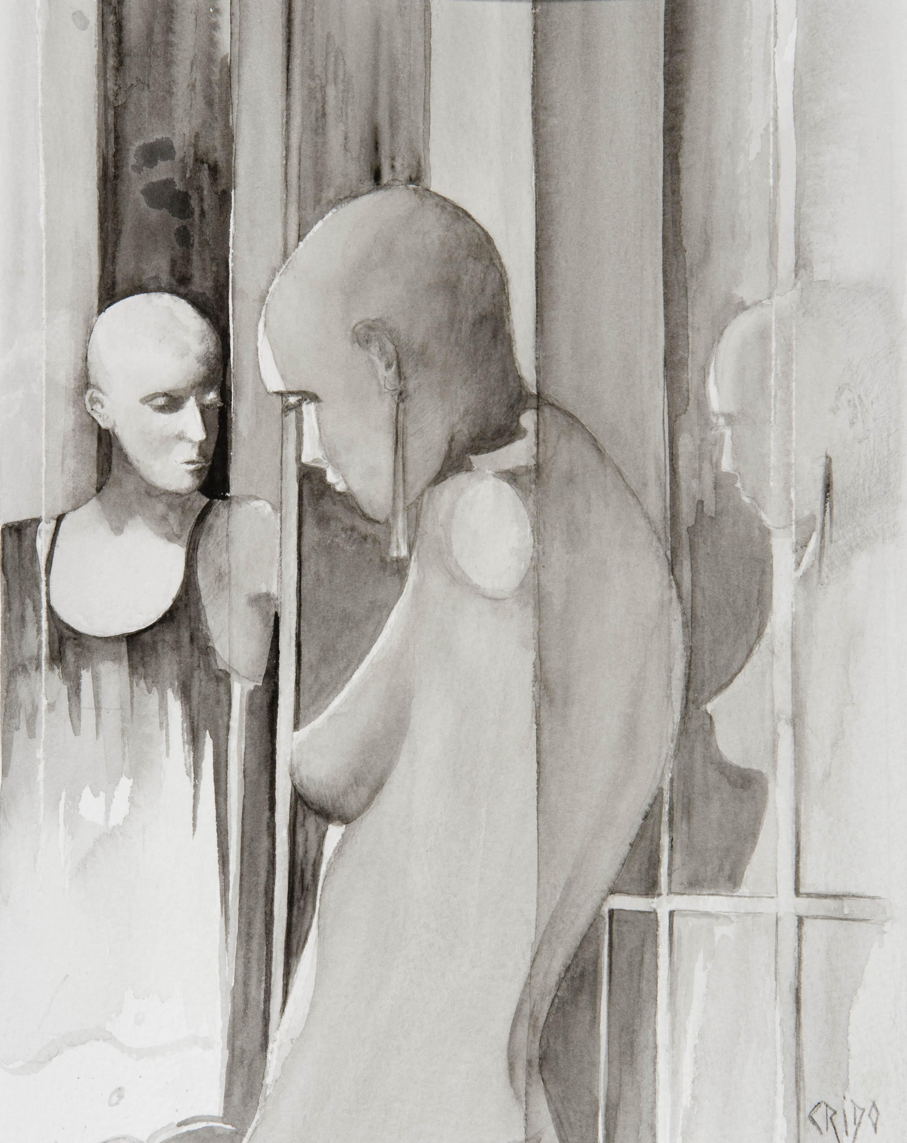 le miroir et son triple