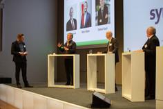 Diskussionsrunde: v.l. Matthias Zurflüh, Marc Gläser, Daniel Koch und Albert Baumann