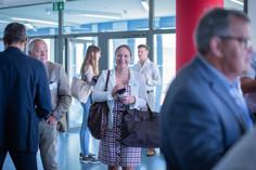Chantal Beck beim Eintreffen im Feusi Bildungszentrum