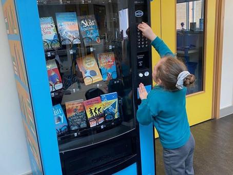 Book Vending Machine on its way