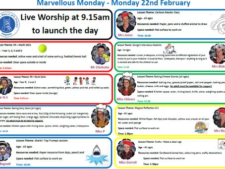 Marvellous Monday - Monday 22nd February