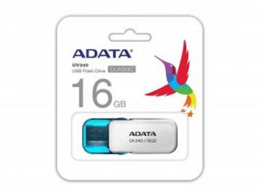 MEMORIA FLASH ADATA UV240 16GB BLANCO 2.0 (AUV240-16G-RWH)