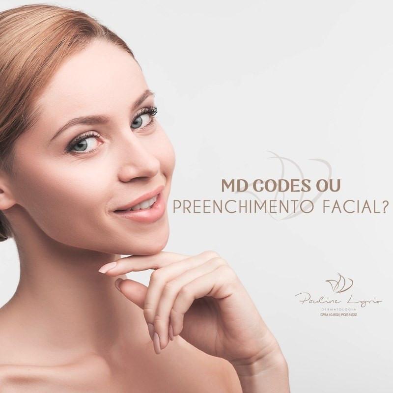 diferença entre MD Cores e preenchimento facial