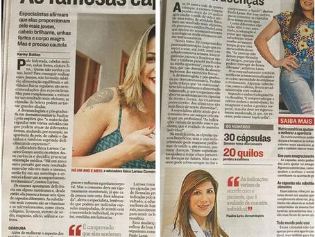 """Entrevista no Jornal A Tribuna sobre as chamadas """"pílulas da beleza"""""""