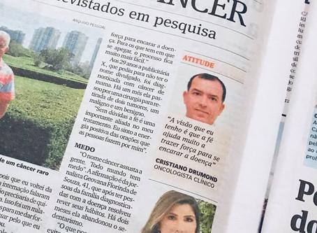 Reportagem no jornal A Gazeta sobre câncer de pele