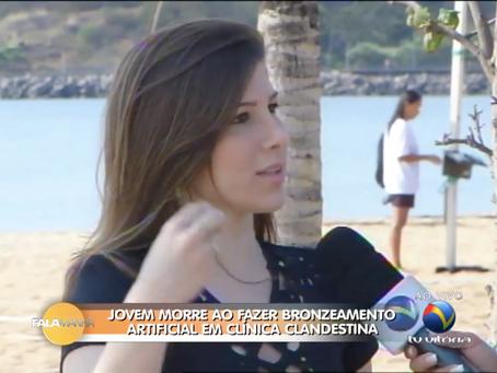 Entrevista ao vivo no programa Fala Manhã, da TV Vitória.