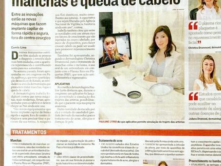 Reportagem no jornal A Tribuna