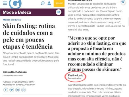 Skin fasting - reportagem no jornal A Gazeta