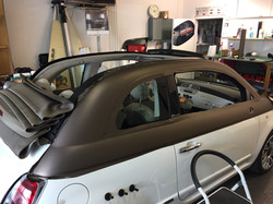Folierung Fiat 500 Dach