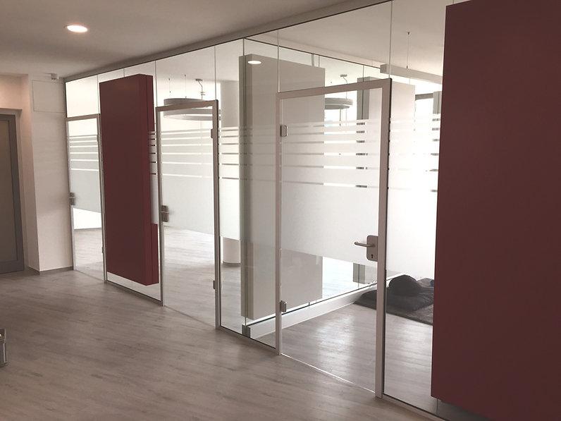 Glasdekor Büro