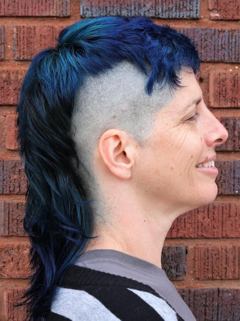 Punk rock unicorn hair