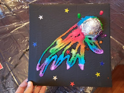 Comet Salt Painting