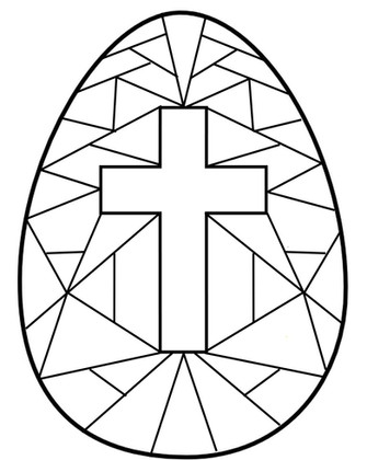 Stained Glass Cross - Egg Hunt 2020